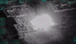 Türk jetleri DEAŞ'a ait bombalı aracı böyle...