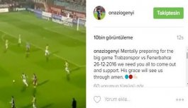 Onazi'den Fenerbahçe paylaşımı