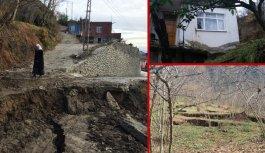 Arsin'de heyelan: 18 ev tehlike altında!
