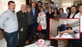 Bakan Soylu'dan Şehit ailesine ve gaziye ziyaret