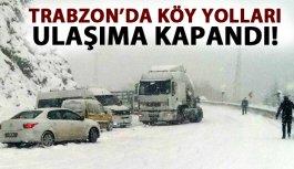 Trabzon'da köy yolları ulaşıma kapandı