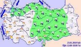 Trabzon'da hava nasıl olacak? 23.01.2018