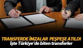 İşte Türkiye'de biten transferler