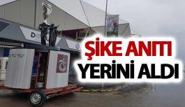 Trabzon'da şike anıtı yerini aldı