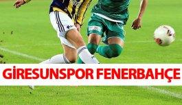Giresunspor Fenerbahçe canlı yayını hangi kanalda...