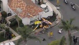Helikopter evin üzerine düştü: 3 ölü