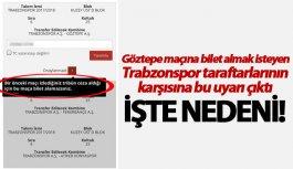 Trabzonspor taraftarı Göztepe maçına bilet alamadı:...