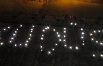 Işıklarla Kudüs yazısı yazarak İsrail'i...