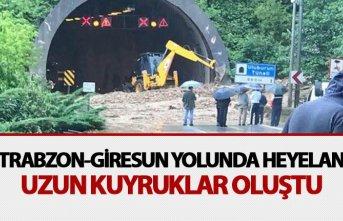 Trabzon - Giresun yolunda heleyan