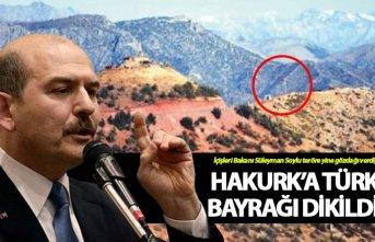 Hakurk'a Türk Bayrağı dikildi