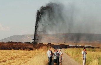 Kahramanmaraş'ta boru hattından petrol fışkırdı