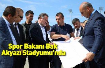 Spor Bakanı Bak Trabzonspor'un stadında