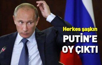 Seçimde bir garip olay... Sandıktan Vladimir Putin'e...