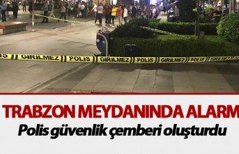 Trabzon meydanında alarm: Polis güvenlik çemberi...