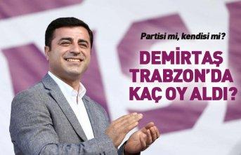 Selahattin Demirtaş Trabzon'da kaç oy aldı?