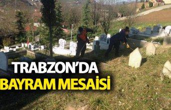 Trabzon'da bayram mesaisi