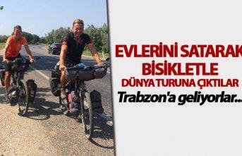 Evlerini satarak bisikletle dünya turuna çıktılar...