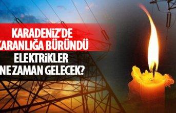 Karadeniz'de elektrikler kesildi! Trabzon'da elektrikler...