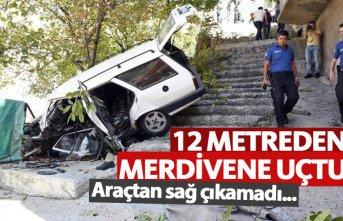 12 Metreden merdivene düştü
