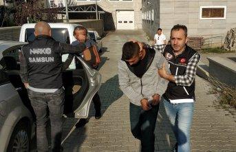 İstanbul'dan Karadeniz'e uyuşturucu getirirken...