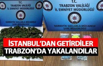 İstanbul'dan getirdiler Trabzon'da yakalandılar