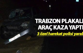 Trabzon plakalı araç kaza yaptı - 3 özel harekat...