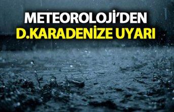 Doğu Karadeniz'e kuvvetli yağış uyarısı