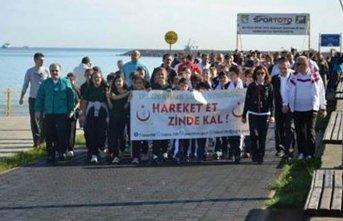 Trabzon'da Dünya Yürüyüş Günü etkinliği...