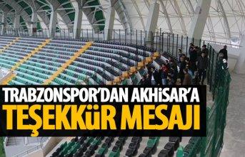 Trabzonspor'dan Akhisar'a teşekkür mesajı