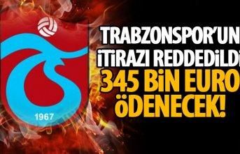 Trabzonspor'un itirazı reddedildi! Rıza Çalımbay'a...