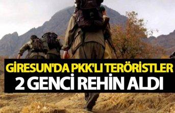Giresun'da PKK'lı teröristler 2 genci...