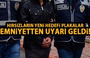 Trabzon'da çalıntı plaka operasyonu