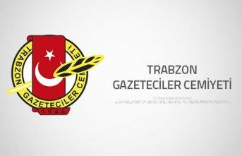 Trabzon Gazeteciler Cemiyeti'nden kınama