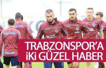 Trabzonspor'a Akhisar maçı öncesi iki müjde