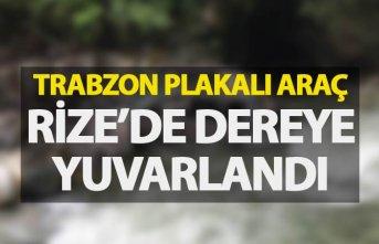 Trabzon plakalı araç dereye yuvarlandı - 6 yaralı