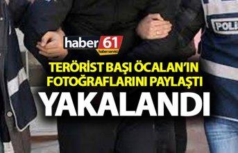 Trabzon'da Öcalan Fotoğrafları paylaşan bir...