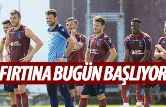 Trabzonspor bugün başlıyor