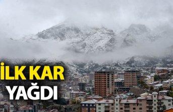 Gümüşhane kent merkezine ilk kar yağdı