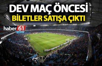 Trabzonspor Fenerbahçe maçı biletleri satışa...