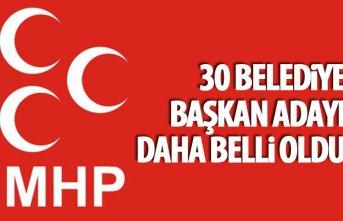 MHP'de 30 belediye başkanı adayı daha belli...