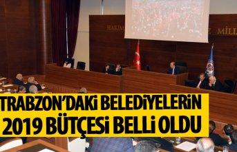 Trabzon'daki belediyelerin 2019 bütçesi belli...