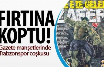 Gazeteler Trabzonspor'un galibiyetini böyle...