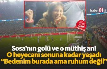 Trabzonsporlu kızın heyecanı kamerada