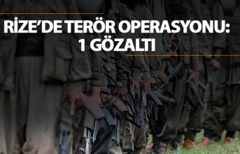 Rize'de terör operasyonu: 1 Gözaltı