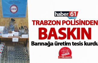 Trabzon polisinden baskın - Barınağa üretim tesis...