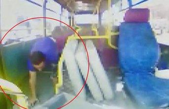 Halk otobüslerinde hırsızlık yapan şahıslar...