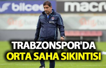 Trabzonspor'da orta saha sıkıntısı
