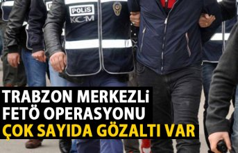 Trabzon merkezli 8 ilde FETÖ operasyonu