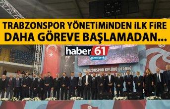 Trabzonspor yönetiminde ilk fire! Daha göreve başlamadan...
