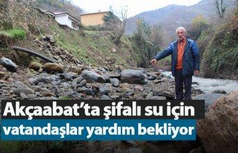 Akçaabat'ta şifalı su için vatandaşlar yardım...
